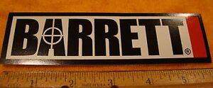 Barrett Firearms Decal Sticker