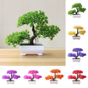 Simulation Fake Potted Bonsai Tree Artificial Plant Desk Ornament Home Decor Cha Ebay