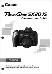 canon powershot sx20 is digital camera user instruction guide manual rh ebay com Canon A530 Recall canon powershot a530 advanced user guide