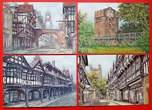 Beautiful-Collection-of-4-New-Chester-Art-Postcards-by-Sue-Firth