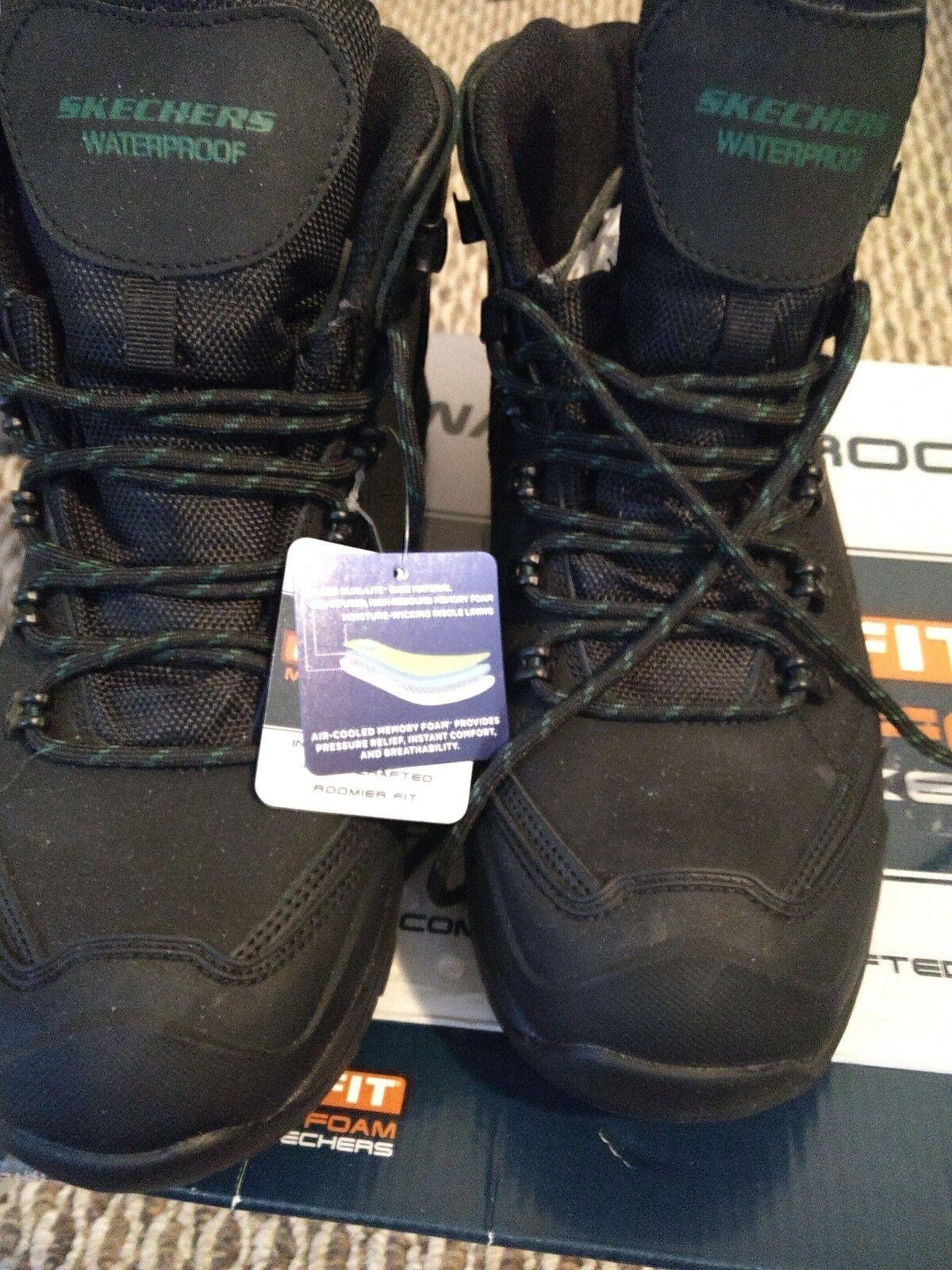 Para Hombre Skechers 65115 negro Pedley-Aster botas Senderismo