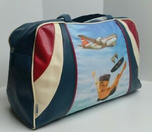 new retro style mile high airlines hostess holdall 40cmx30cmx20cm
