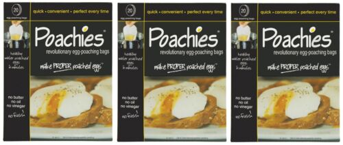 60 x POACHIES EGG POACHING POACHER BAGS