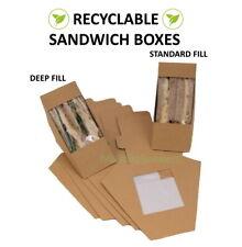 Kraft Karton Sandwich Keile Cafe Zum Mitnehmen Kiste Braune Keilabsatz Packungen
