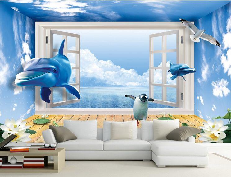 3D DelFine tanzenden pinguine Fototapeten Wandbild Fototapete BildTapete Familie