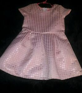 The-Children-039-s-Place-Toddler-Girls-Peach-amp-Gold-Colored-Dress-Sz-4T