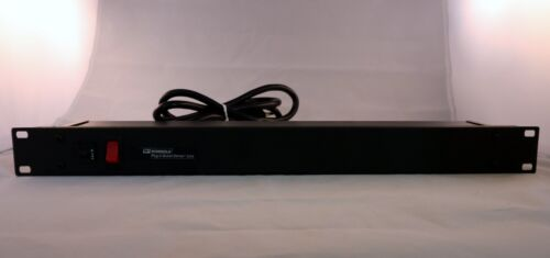 """Wiremold 6 Outlet 19/"""" Rack Mounted Power Strip 15A 120V Plug-in Center"""