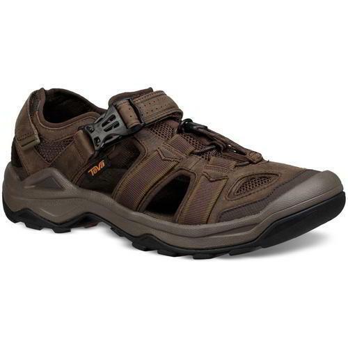 Teva Omnium 2 Cuir Homme Marron Marche Randonnée Sandales Chaussures Taille 8-11