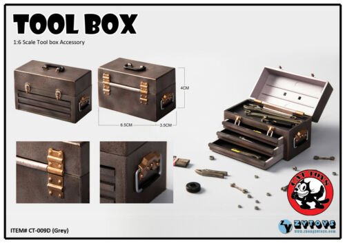 1//6 Scale Grey Tool Box Accessory CT-009D Figure Model With Box