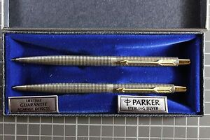 Parker 75 Classic Sterling Silver Ballpoint Pen Amp 0 5mm