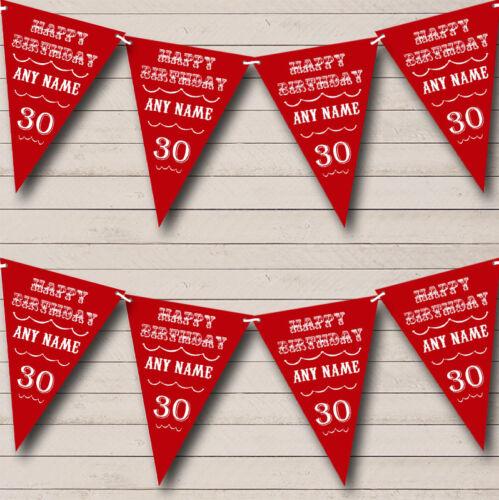 Texte de tout âge anniversaire Foncé Bordeaux Rouge personnalisé anniversaire Bruant Fête Bannière