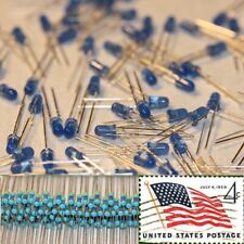 100pcs 3mm Blue Round Diffused Leds Light 9v-12v Resistor Kit USA