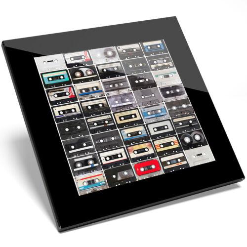 Kitchen Student Gift #8393 1 x Retro Vintage Cassette Tapes Glass Coaster