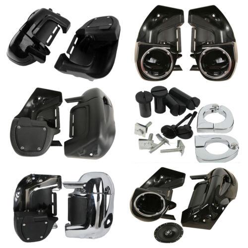 6.5 Speaker Box Pods Lower Vented Leg Fairings For Harley Davidson Touring FL