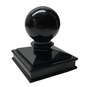 "3"" X 3"" Decorex Hardware Aluminium Ball Top Post Cap For Metal Posts - Black"