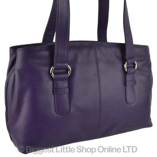 NEW Ladies LEATHER Classic Shoulder Bag by MALA; Anishka Collection Twin Handle