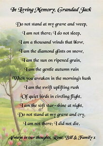 do not cry at my grave poem