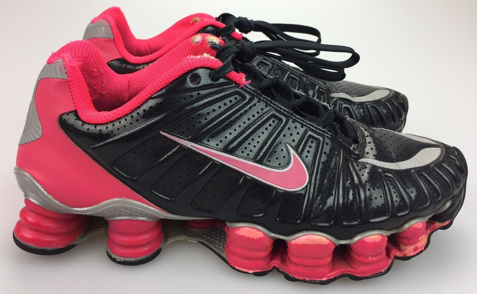 newest collection c7fc7 515da Women s sz sz sz 6.5 Nike Shox TLX Total Black Siren Red Pink Running shoes  488344