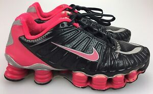best loved c746d f89fd Details about Women's sz 6.5 Nike Shox TLX Total Black Siren Red Pink  Running Shoes 488344-061