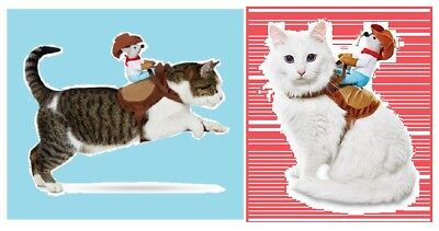 "Geleerd Petco Bootique""kitty Up""xs/s Dog Cat Halloween Costume Rodeo Cowboy Mouse Saddle Zacht En Licht"