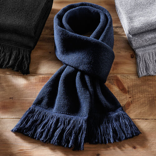 B470 Beechfield Classic Knitted Scarf Double Layer Knit Classic Style