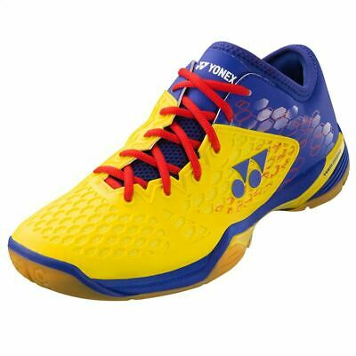 Analytical Yonex Mens Power Cushion 03zm Badminton Shoes yellow/blue Making Things Convenient For Customers
