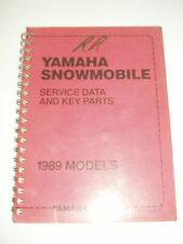 YAMAHA  SERVICE DATA MANUAL1989 BR250 CF300 CS340 ET400 EX570 PZ480 SR540 SV80