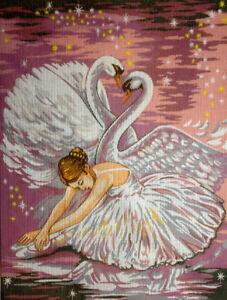 Gobelin-Stickbild-Stickpackung-Ballerina-30x40-halber-Kreuzstich-057