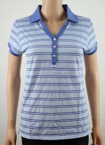 5dbd7d46 Tommy Hilfiger Golf Blue & White S/S Stripe Polo Shirt TW359SAM - M ...