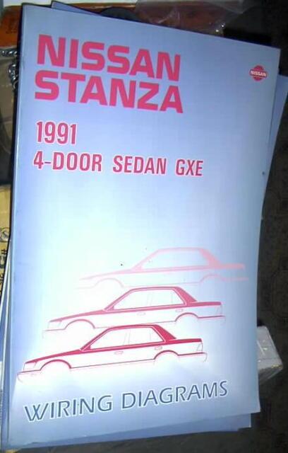 1991 Nissan Stanza 4 Door Sedan Gxe Factory Wiring