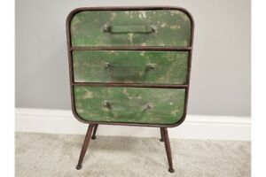 Industrial-Factory-Style-Rustic-Metal-Drawer-Unit-Bedside-Table