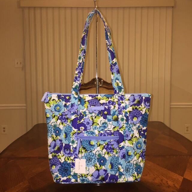 8ac706c5fff Vera Bradley Villager Tote Blueberry Blooms Bag Purse Ship for sale ...