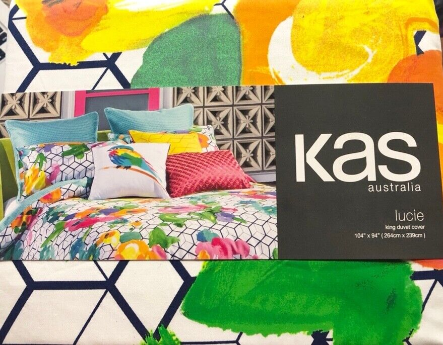 New Kas Australia Lucie KING Duvet Cover Watercolor Abstract