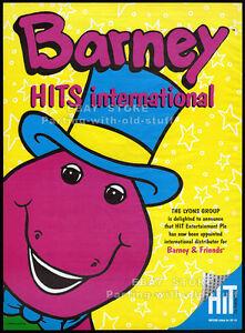 BARNEY-amp-FRIENDS-Original-1993-Trade-print-AD-poster-animated-TV-series-promo