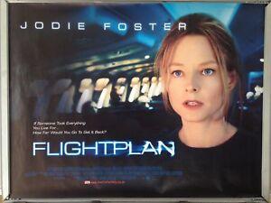 Cinema Poster Flightplan 2005 Quad Jodie Foster Sean Bean Ebay