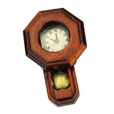 Miniature 1:12 Doll House Furniture Mini Bird Wood Clock Dollhouse Accessory ON