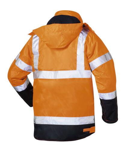 Warnschutzjacke Warnschutzparka orange Elysee Winterjacke Philipp Gr XS-3XL