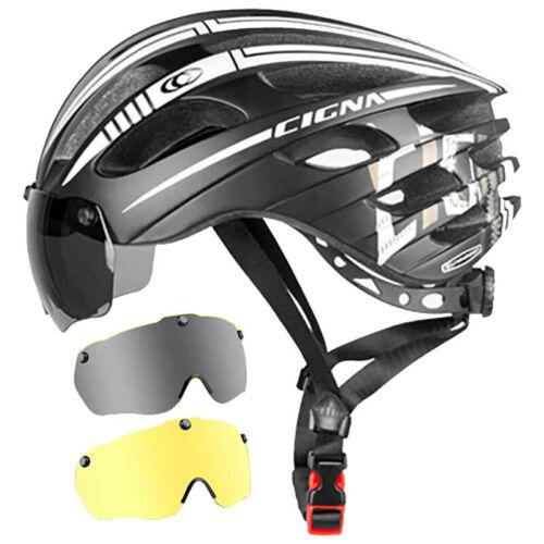 Cycling Helmet Mountain Bike Goggles Glasses One Road Bike Safety Hat Myopia