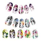 10pcs Nail Water Transfer Decals Nails Art Stickers Decal Wraps Flowers Styles