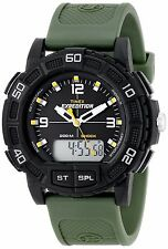 Timex Mens Expedition Double Shock Resistant Analog/Digital Alarm Green Watch