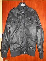 Boys/young Mans Leather Look Matalan Jacket/coat Size Xxs