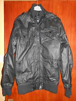 Boys/young Mans Leather Look Matalan Jacket/coat Size Xxs