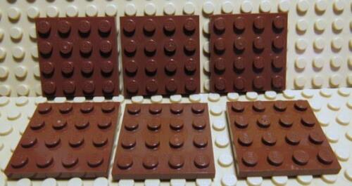 Flat Plate 4 x 4 ~REDDISH BROWN~ Harry Potter EXC 6 LEGO Parts~3031