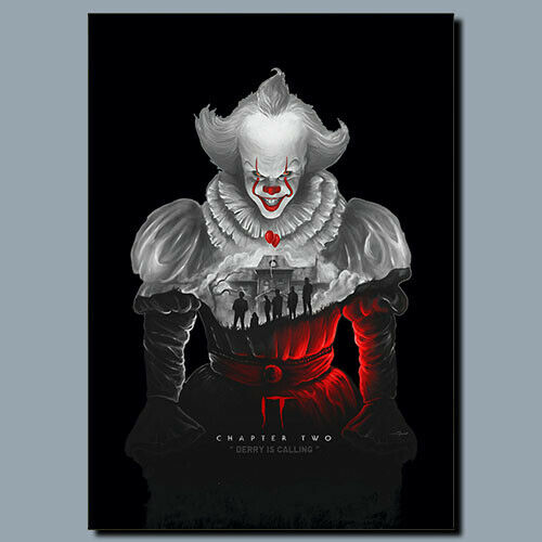 IT Derry Is Calling Movie Metal poster, Canvas, Sign, Plaque poster, WALL ART
