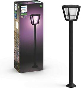 Philips Hue Econic Farola LED inteligente Negro Luz Blanca y Colores Alexa Googl