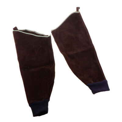 Heavy Duty Cowhide Leather Welding Sleeves For Arms Guard Flame Resistant