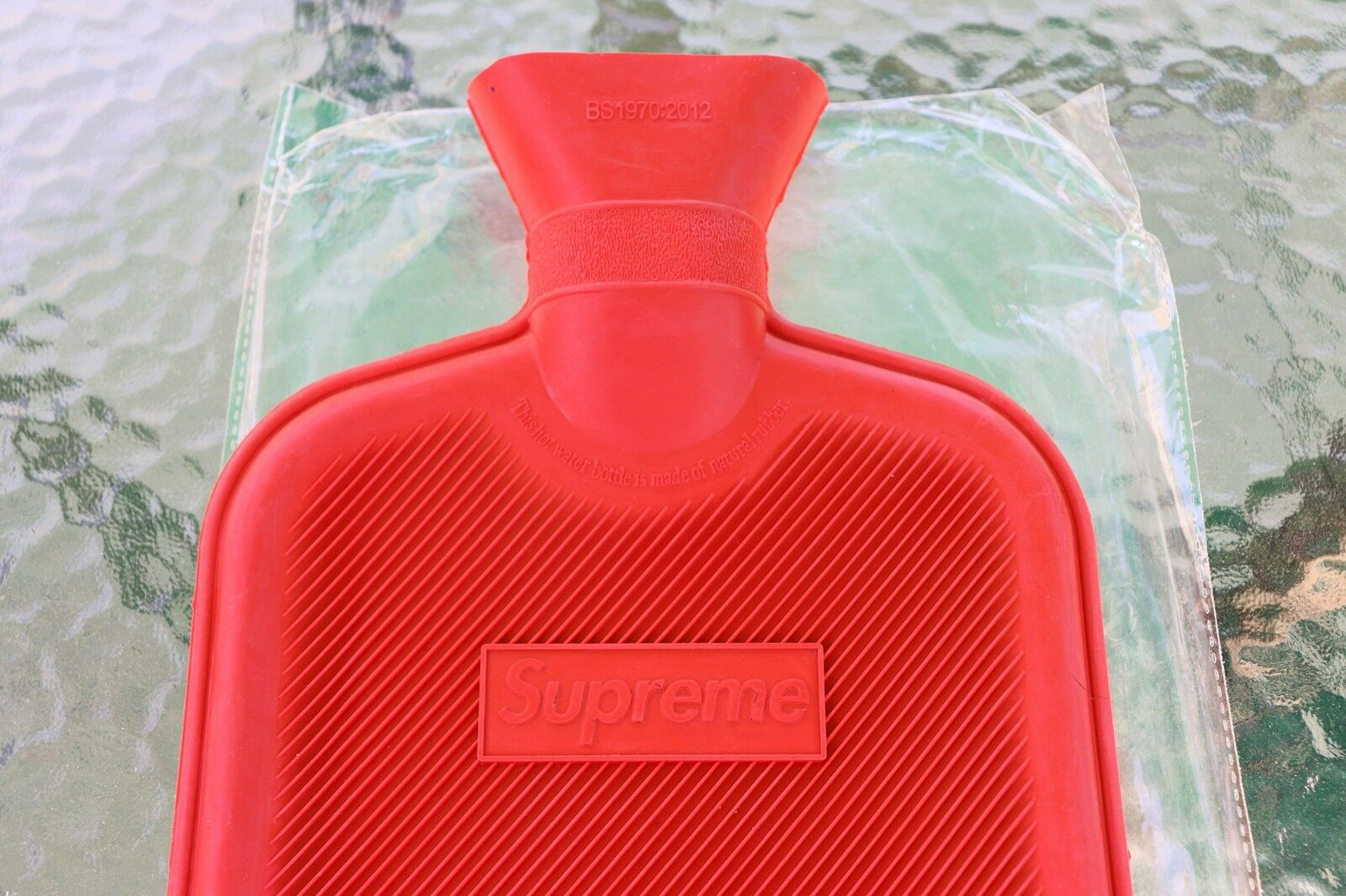 Supreme Box Logo Hot Water Bottle Rubber Red F W 16