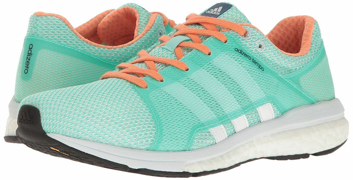 ADIDAS ADIZERO TEMPO LOW RUNNING SNEAKERS WOMEN SHOES GREEN BA8095 SIZE 10 NEW
