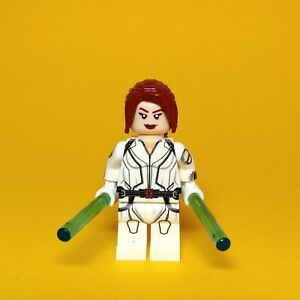 Details About Lego Custom Black Widow White Movie Suit Minifigure Uv Printed
