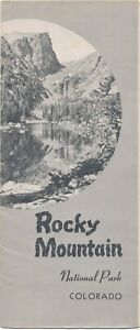 Details about Large Map Rocky Mountain National Park Colorado 1949 Govt  Printing Brochure